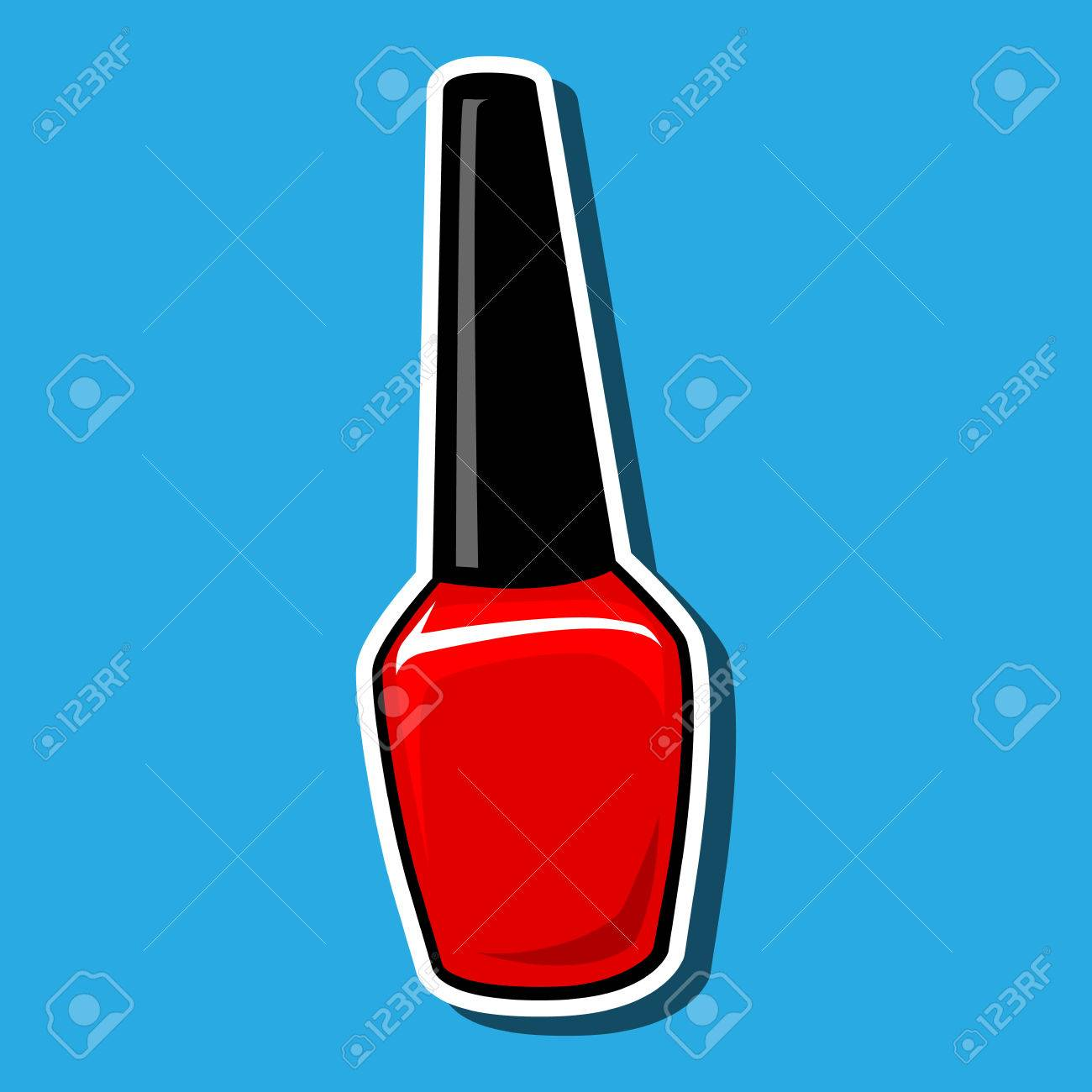 How To Draw A Cartoon Nail Polish Bottle - Creative Touch
