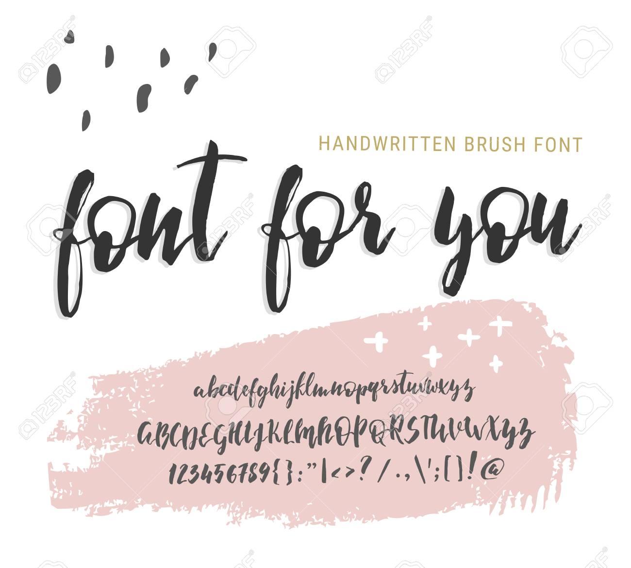 Handwritten script font  Elegance Calligraphic vector alphabet