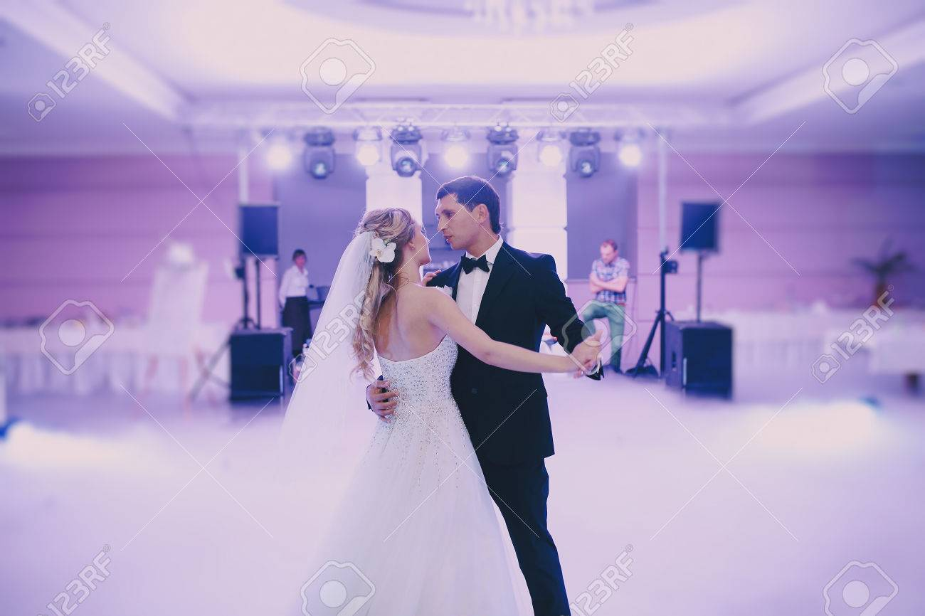 brides wedding party in the elegant restaurant with a wonderful light and atmosphere - 44339215