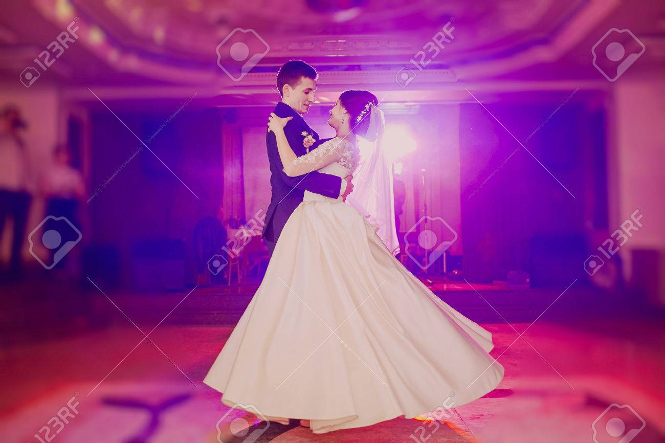 Romantic Couple Dancing On Their Wedding Hd Stock Photo Picture And Royalty Free Image Image 45708283