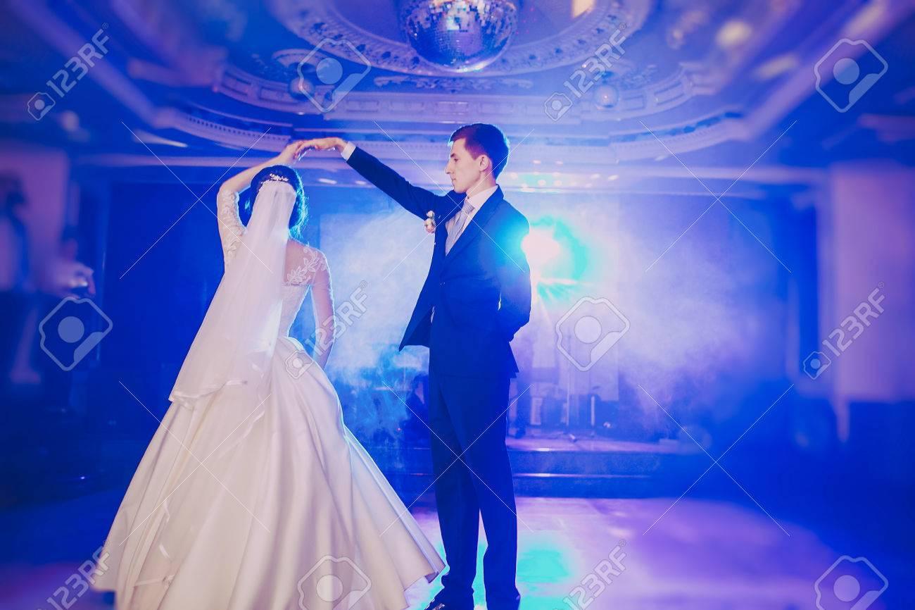 romantic couple dancing on their wedding HD - 45708342