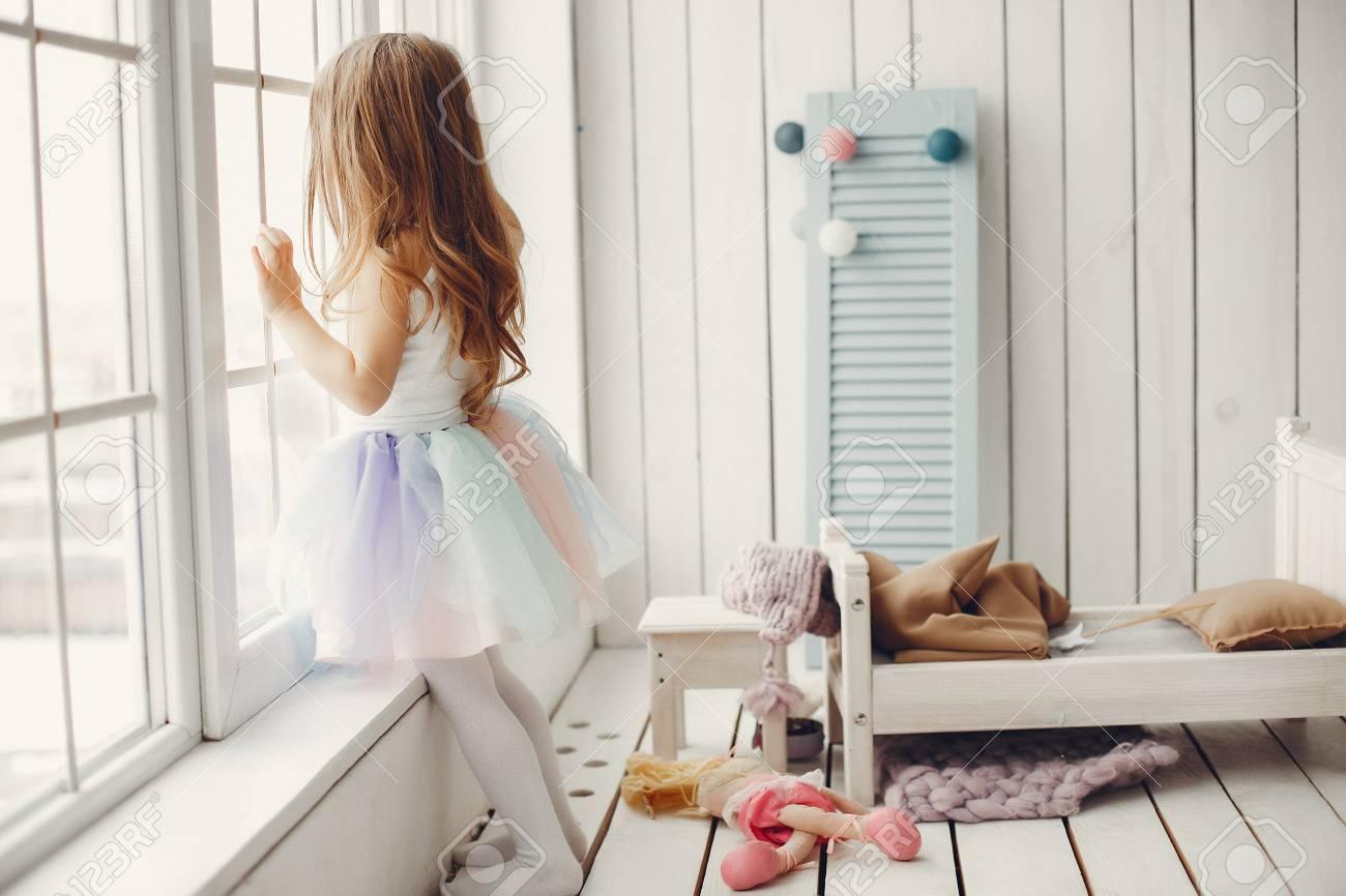 Little girl in a ballet tutu. Child in a ballet skirt. - 116823592