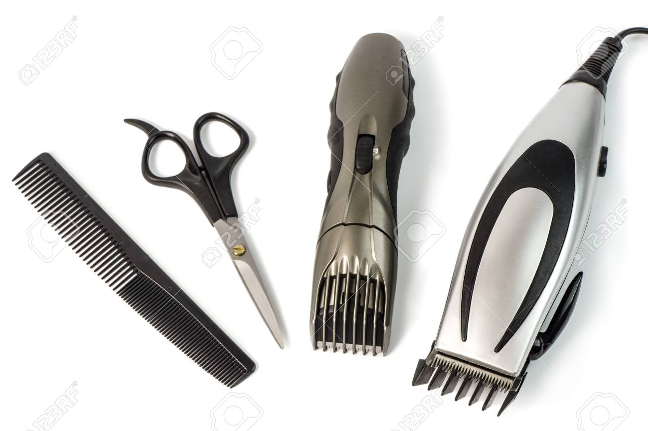 The machine for a hairstyle and hair trimmer. Hair clippers and..