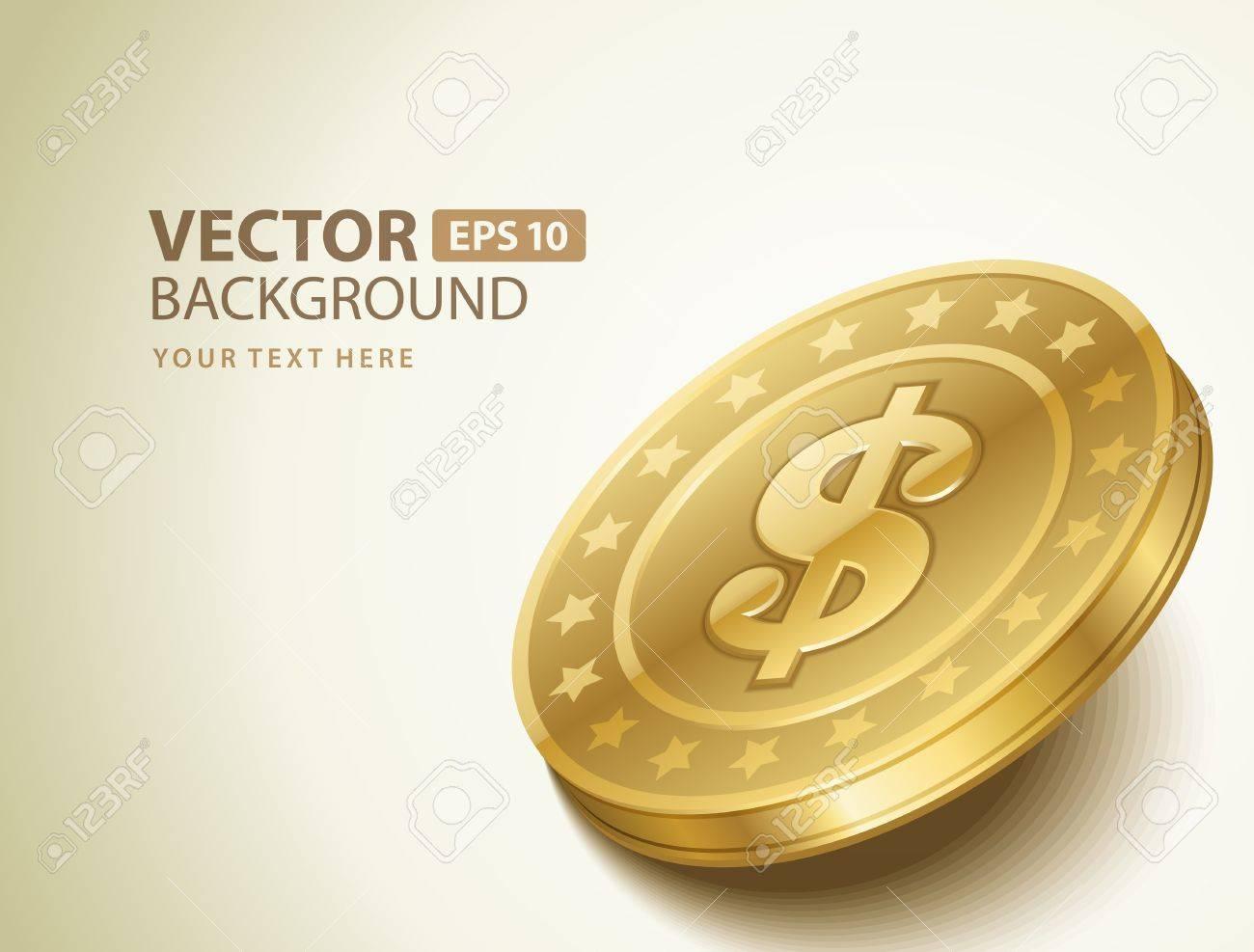 Dollars money coin vector background Stock Vector - 14760693