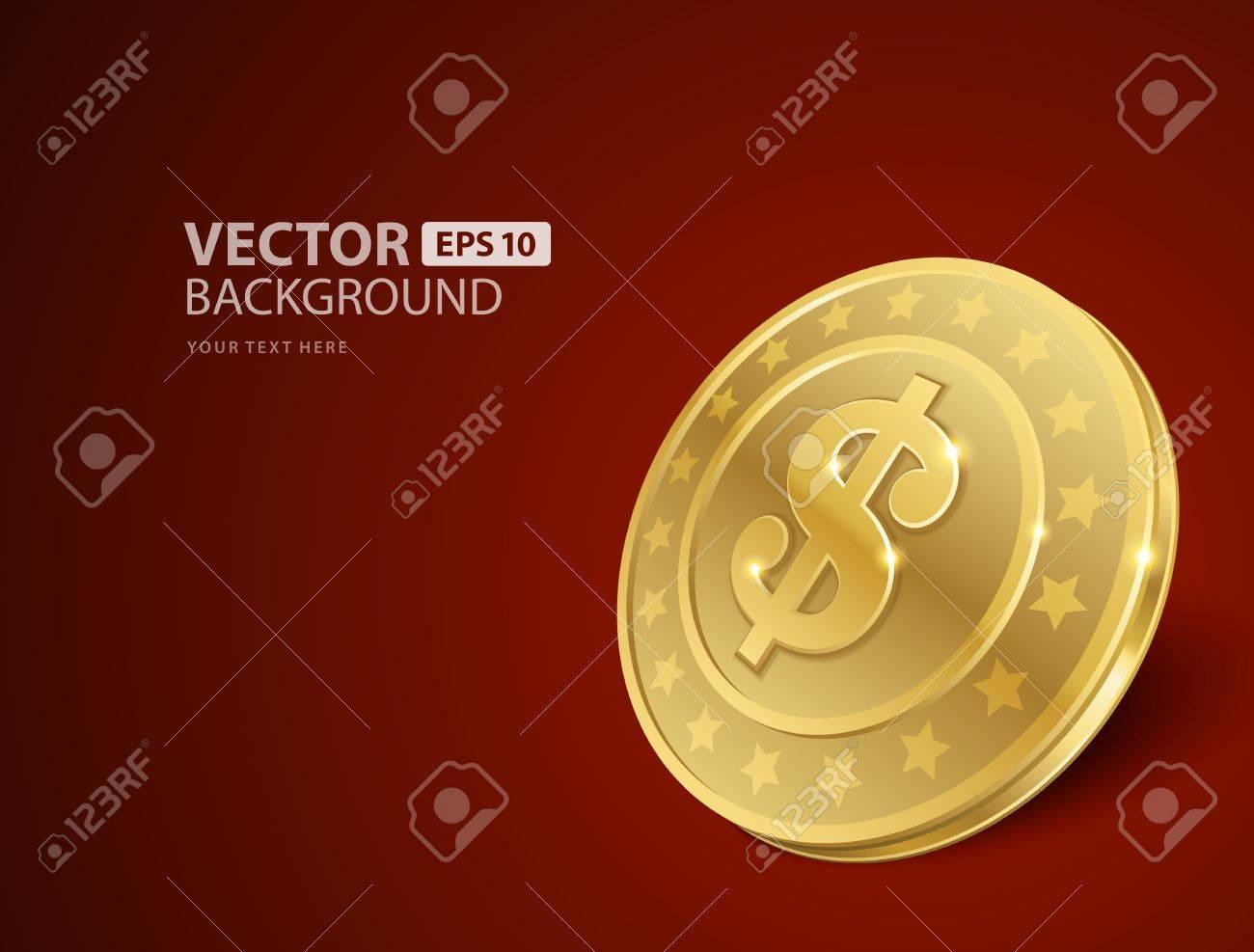 Dollars money coin vector background Stock Vector - 14760767
