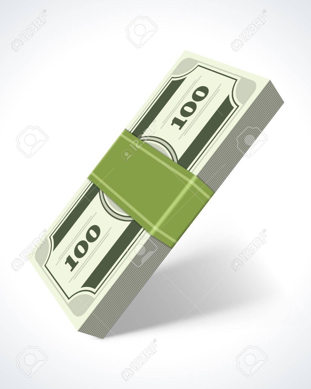 Dollars money in perspective vector design element Stock Vector - 14760758