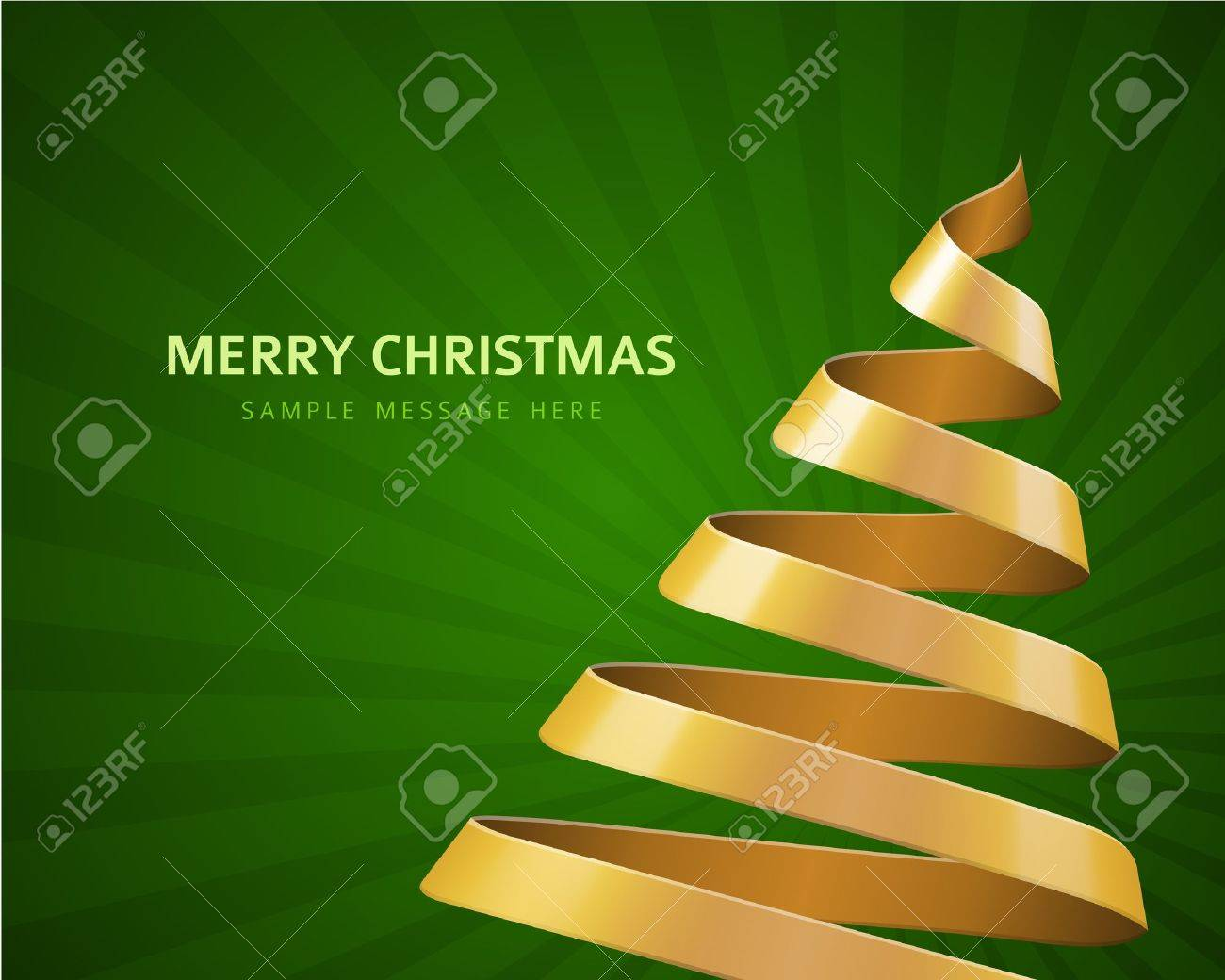 Christmas tree from ribbon vector background Stock Vector - 16572940