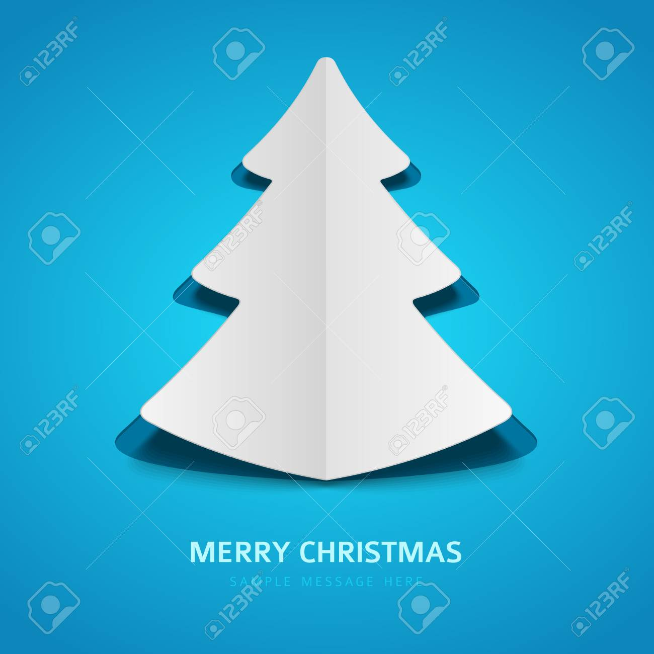 Christmas tree  from paper background Stock Vector - 16697388