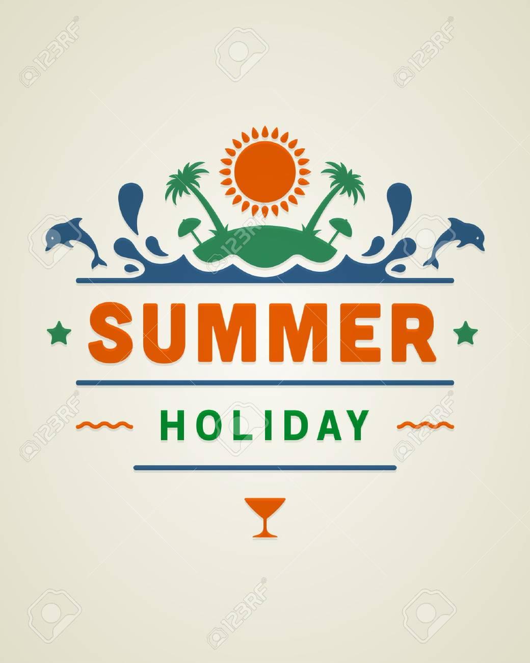Poster design vector graphics - Retro Summer Design Poster Vector Illustration Stock Vector 19799794