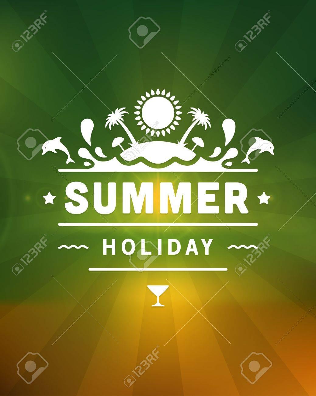 Retro summer design poster  Vector illustration Stock Vector - 19757046
