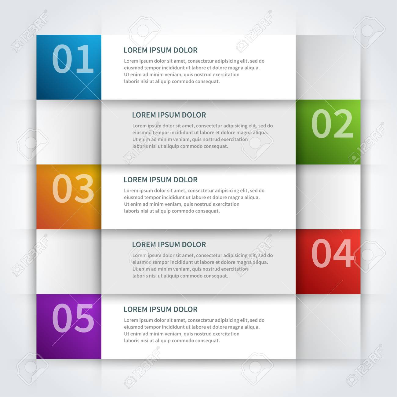 paper lines and numbers design template Stock Vector - 20386173