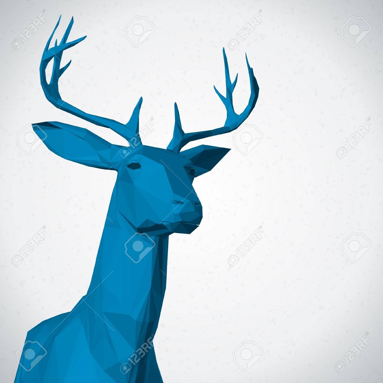Deer head background Stock Vector - 21447744