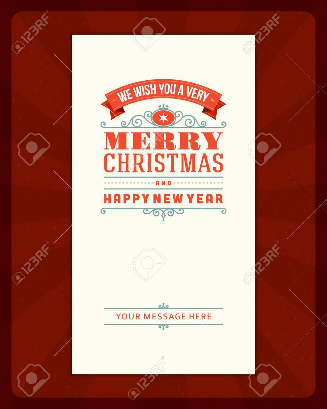 Merry Christmas Invitation Card Ornament Decoration Background