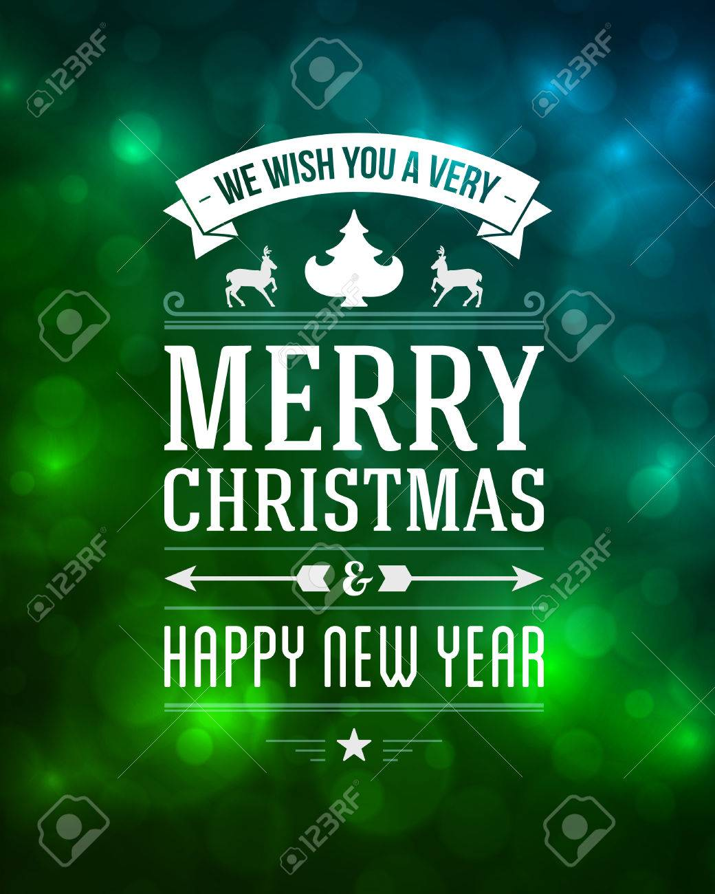 Merry Christmas message and light background with snowflakes Stock Vector - 22524773