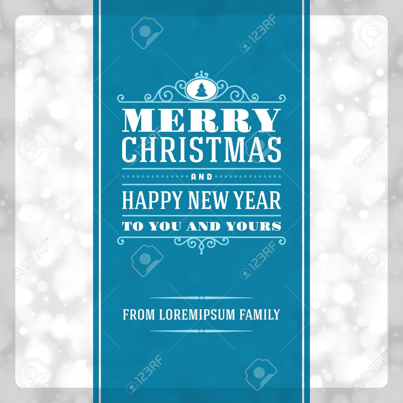 Christmas invitation card ornament decoration background  Vector illustration Eps 10  Happy new year message Stock Vector - 23262376