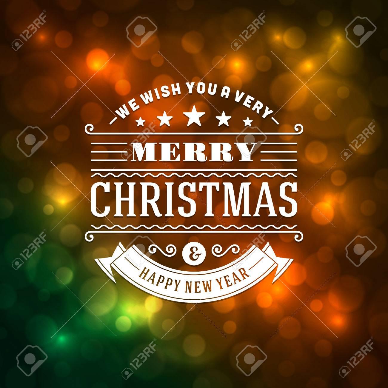 Frohe Weihnachten Nachricht Und Hellen Hintergrund Vektor ...