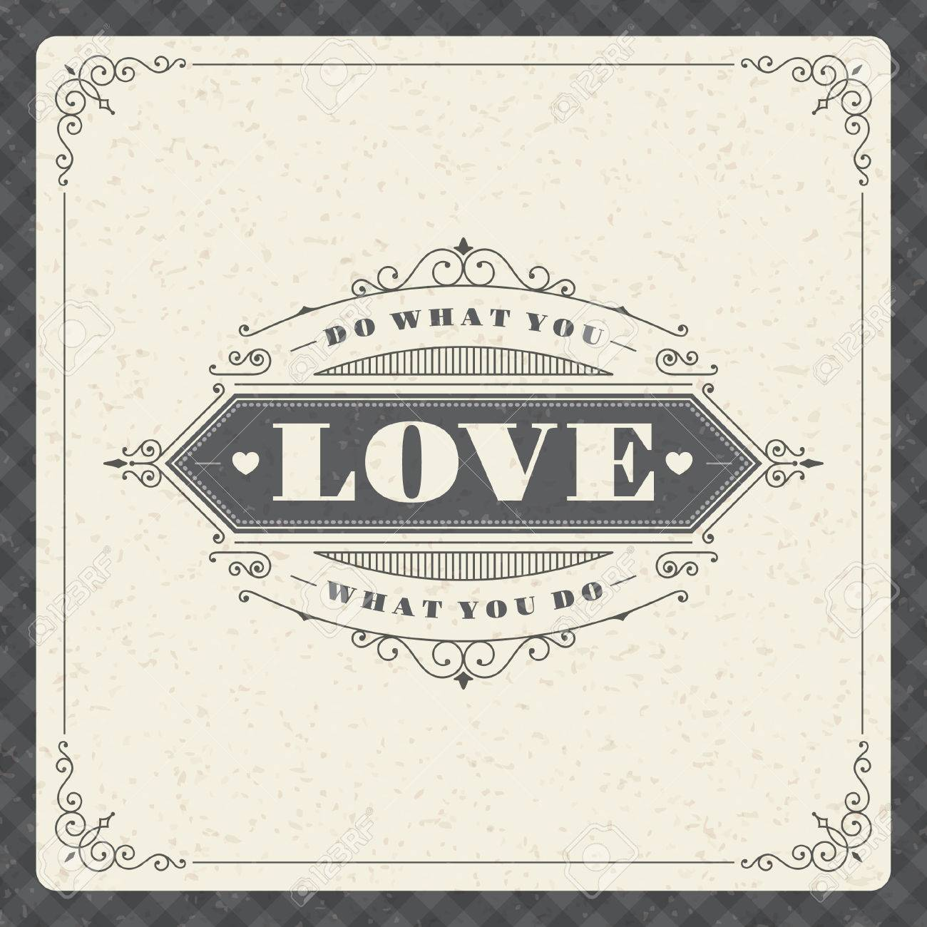 Do What You Love Love What You Do Quote Quote Typographic Background Do What You Love Love What You