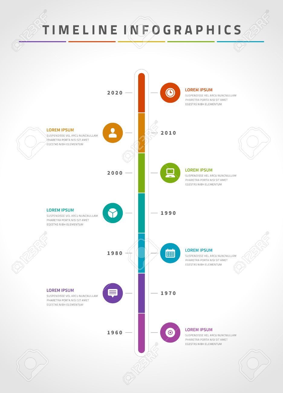 Timeline Infographic And Icons Vector Design Template For Web – Timeline Website Template