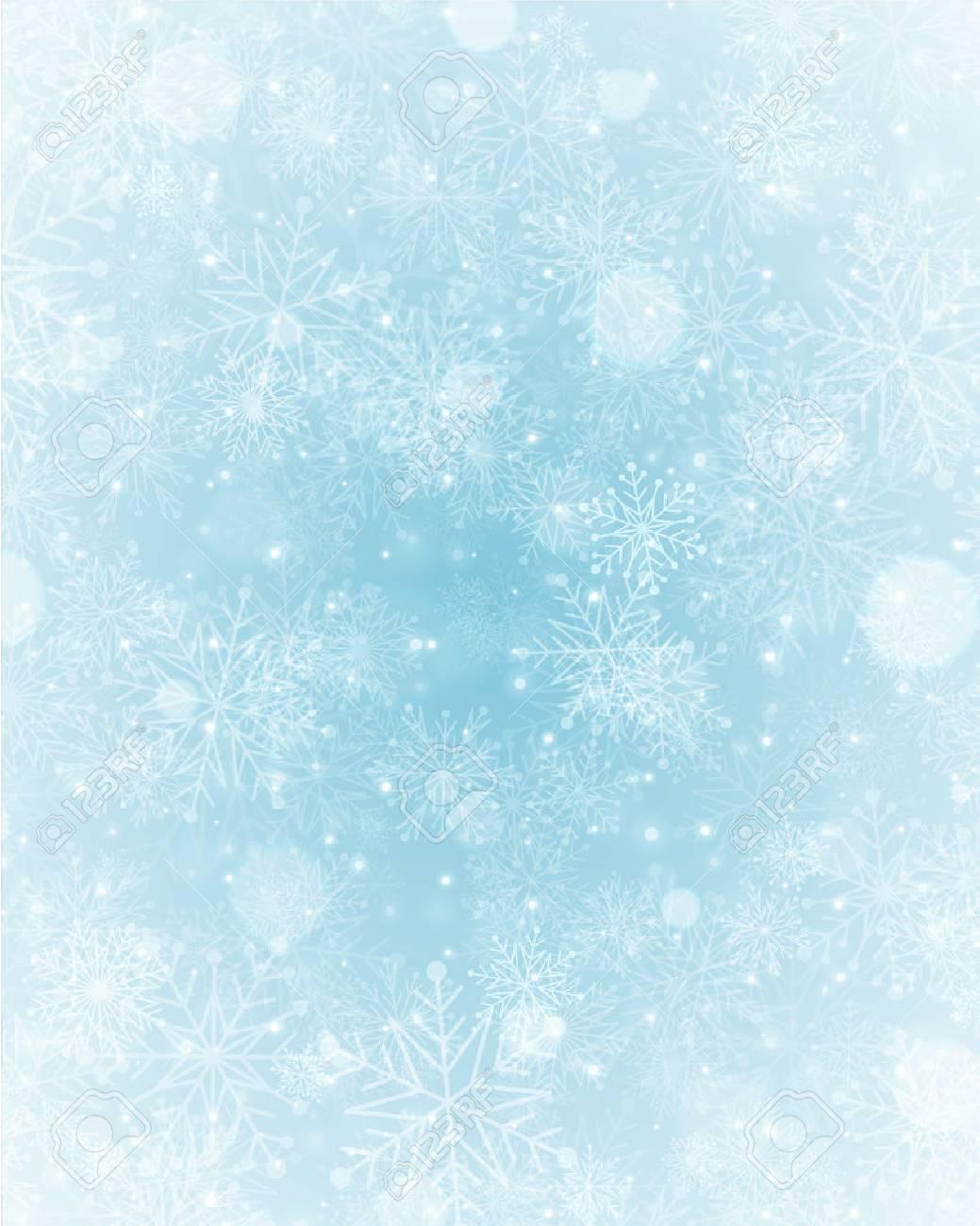Christmas light with snowflakes. Merry Christmas holidays wish greeting card. - 32769176
