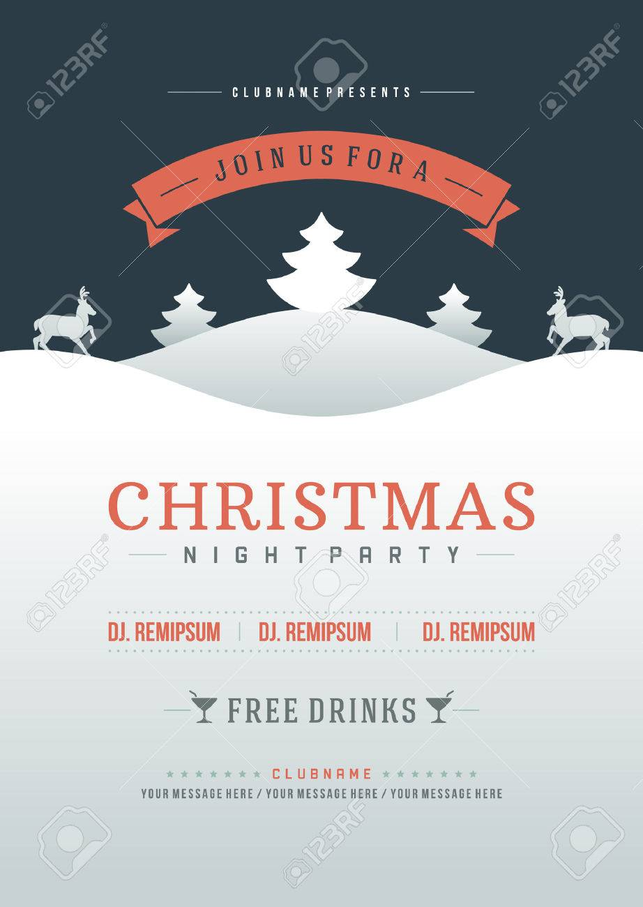16 926 christmas flyer template cliparts stock vector and royalty christmas flyer template christmas party invitation retro typography and or nt decoration christmas holidays flyer