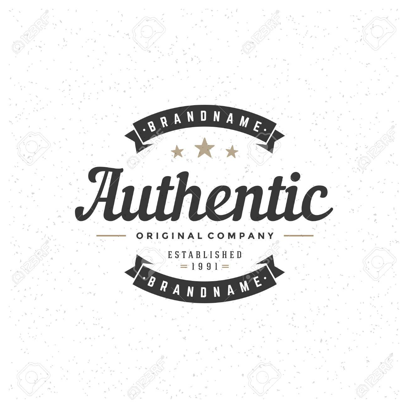 Retro Vintage Insignia, Logotype, Label or Badge Vector design element, business sign template. - 35279694