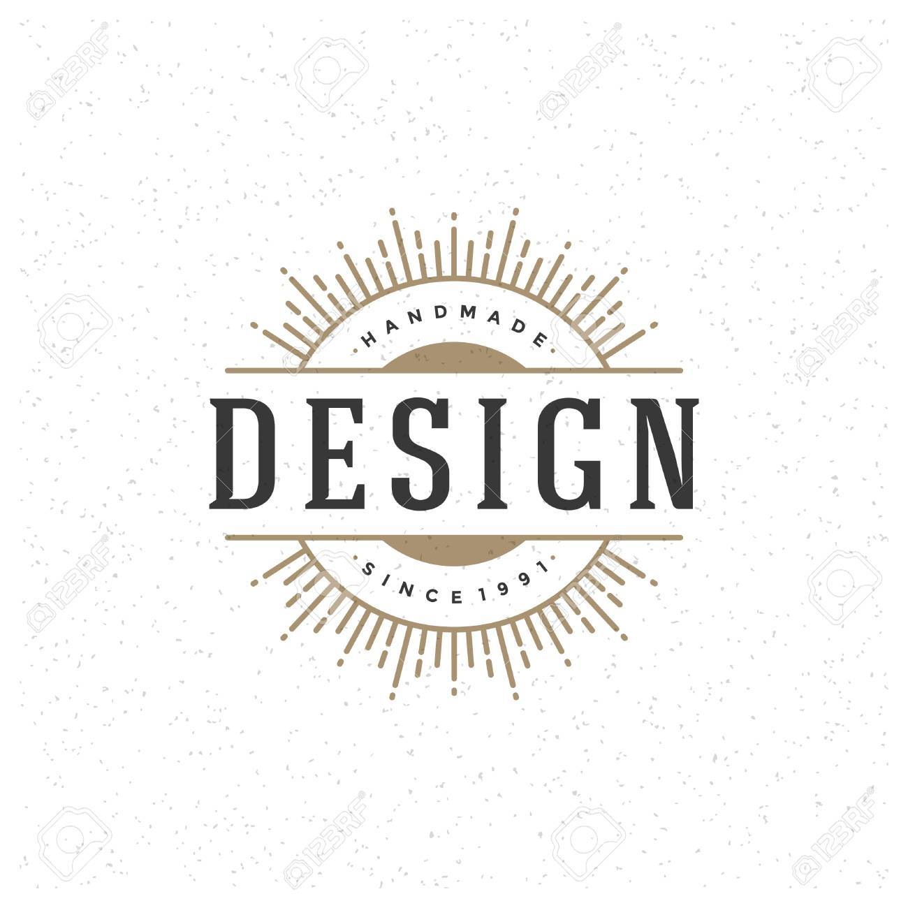 Retro vintage insignia label or badge vector design element retro vintage insignia label or badge vector design element business sign template stock cheaphphosting Images