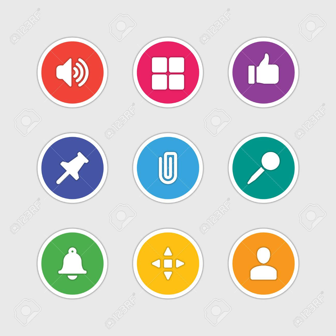Material Design Style Icons Vector Sign And Symbols Speaker