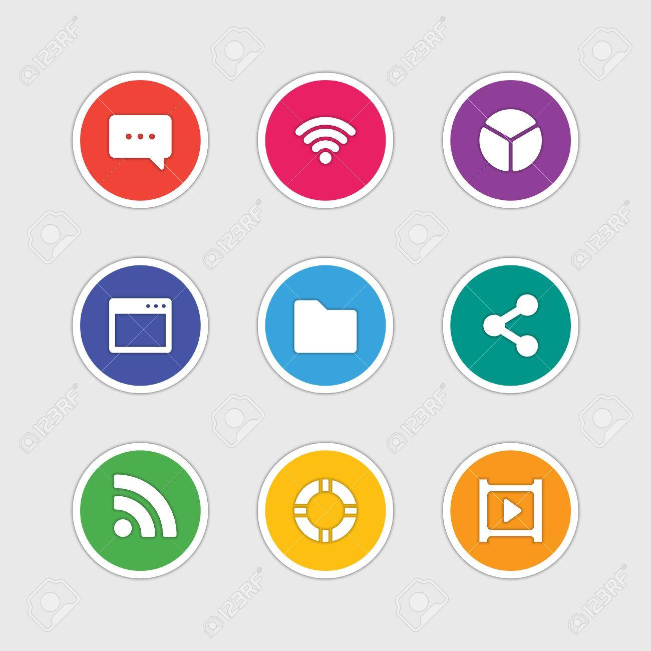Material design style icons vector sign and symbols Message,