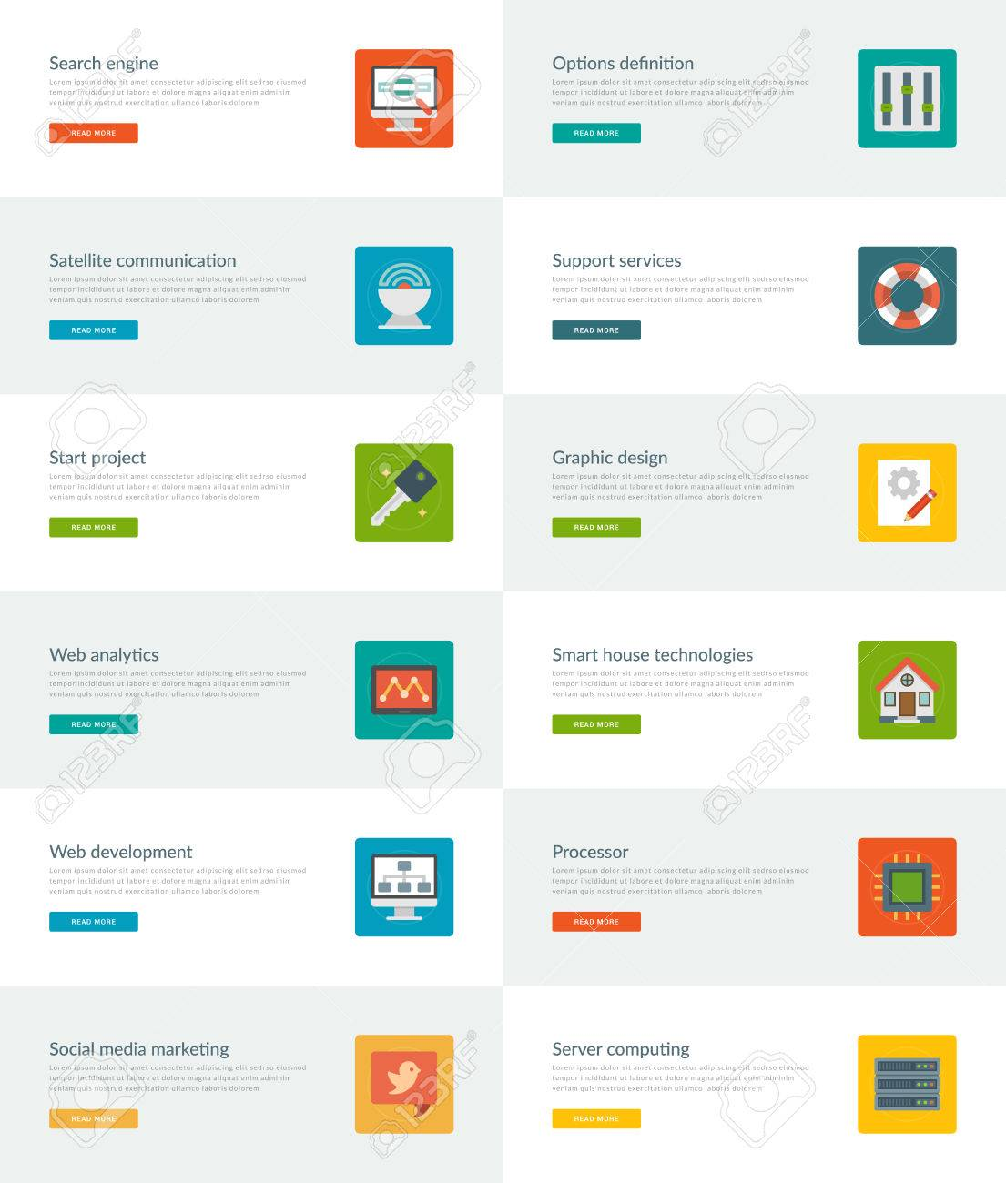 Templates Definition | Website Headers Or Promotion Banners Templates And Flat Icons