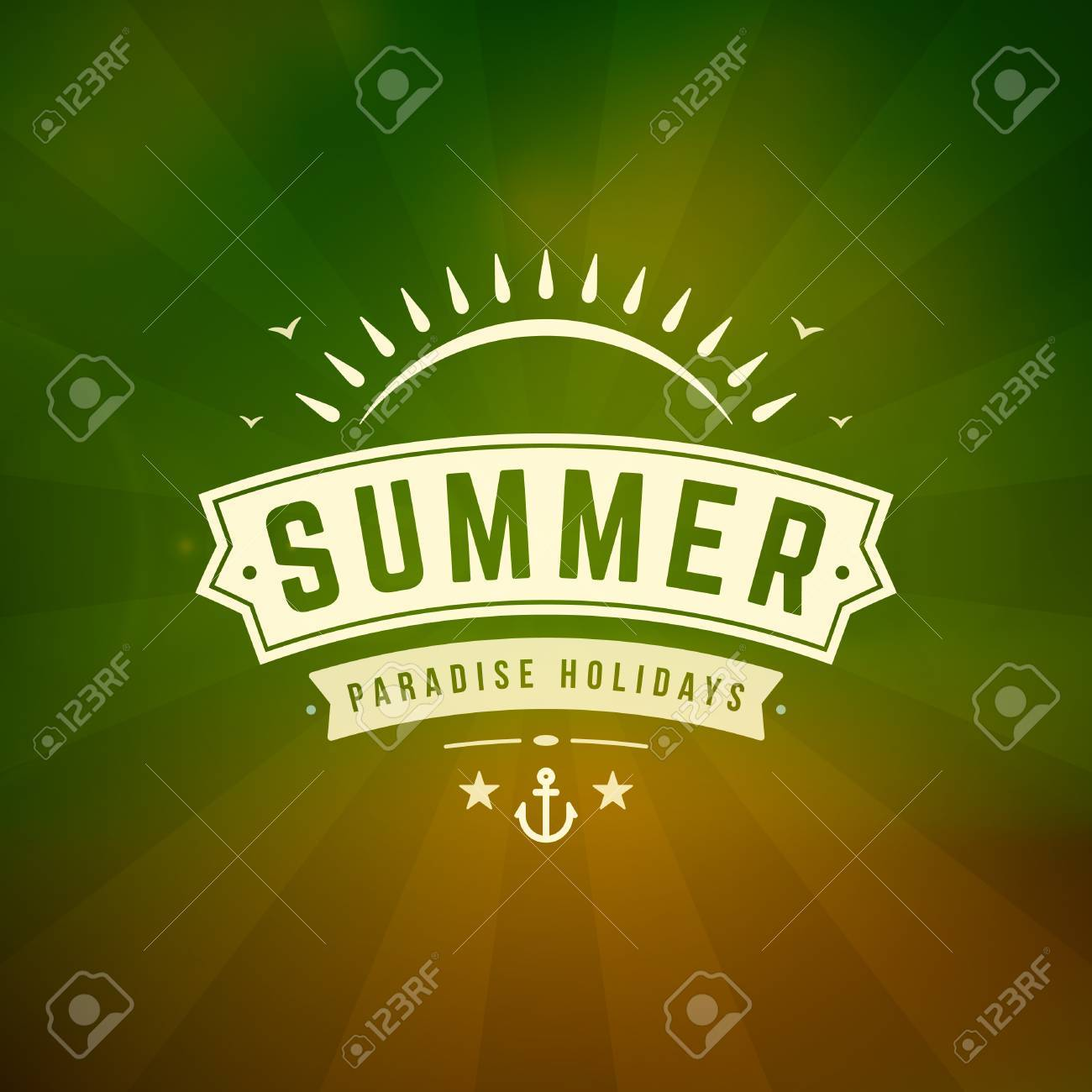 Poster design typography - Summer Holidays Poster Design Beautiful Blurred Sunshine Glowing Bokeh Light And Typography Message Vector Background