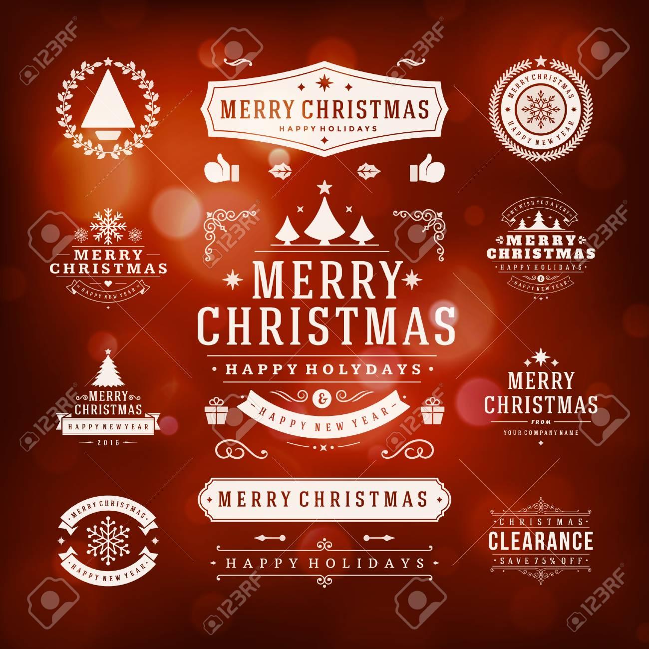 Decoraciones De Navidad Vector Elementos De Diseño. Elementos ...