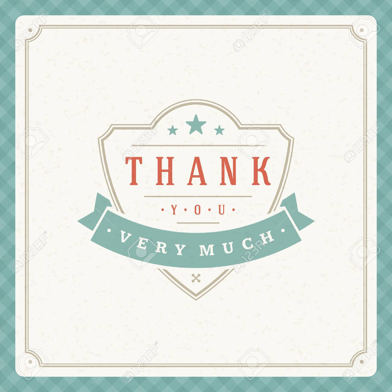 Thank you message text vintage greeting card design template thank you message text vintage greeting card design template retro vector background thank you m4hsunfo