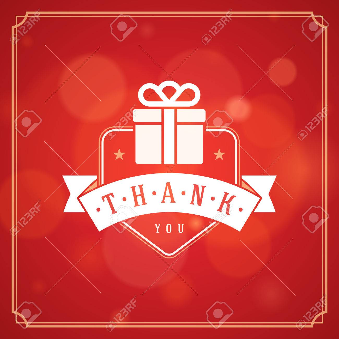 Thank you typography message vintage greeting card design template thank you typography message vintage greeting card design template bokeh light vector background thank kristyandbryce Choice Image
