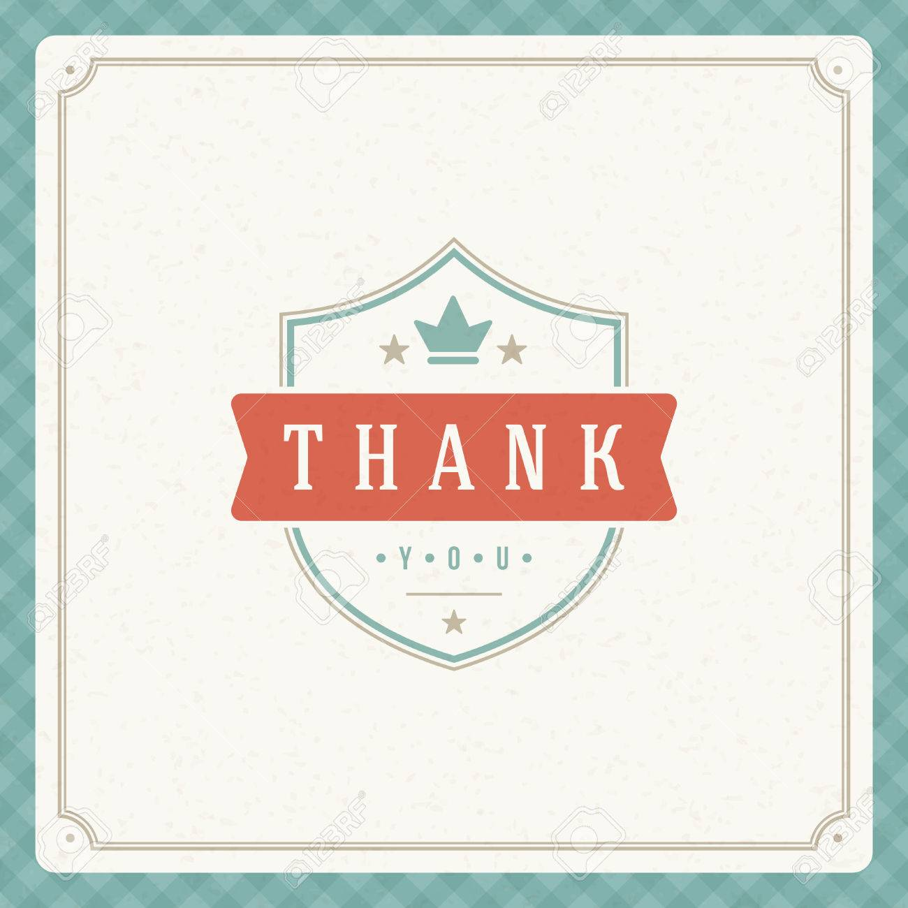 Thank you message text vintage greeting card design template thank you message text vintage greeting card design template retro vector background thank you kristyandbryce Choice Image