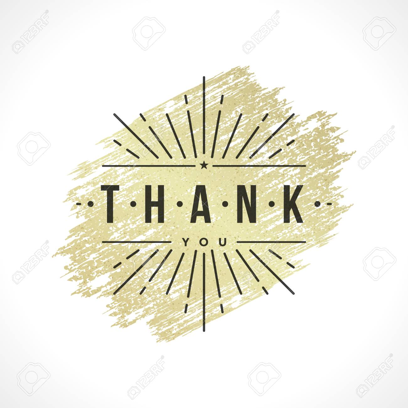 Thank you typography message vintage greeting card design template thank you typography message vintage greeting card design template gold texture paint stain retro vector kristyandbryce Choice Image