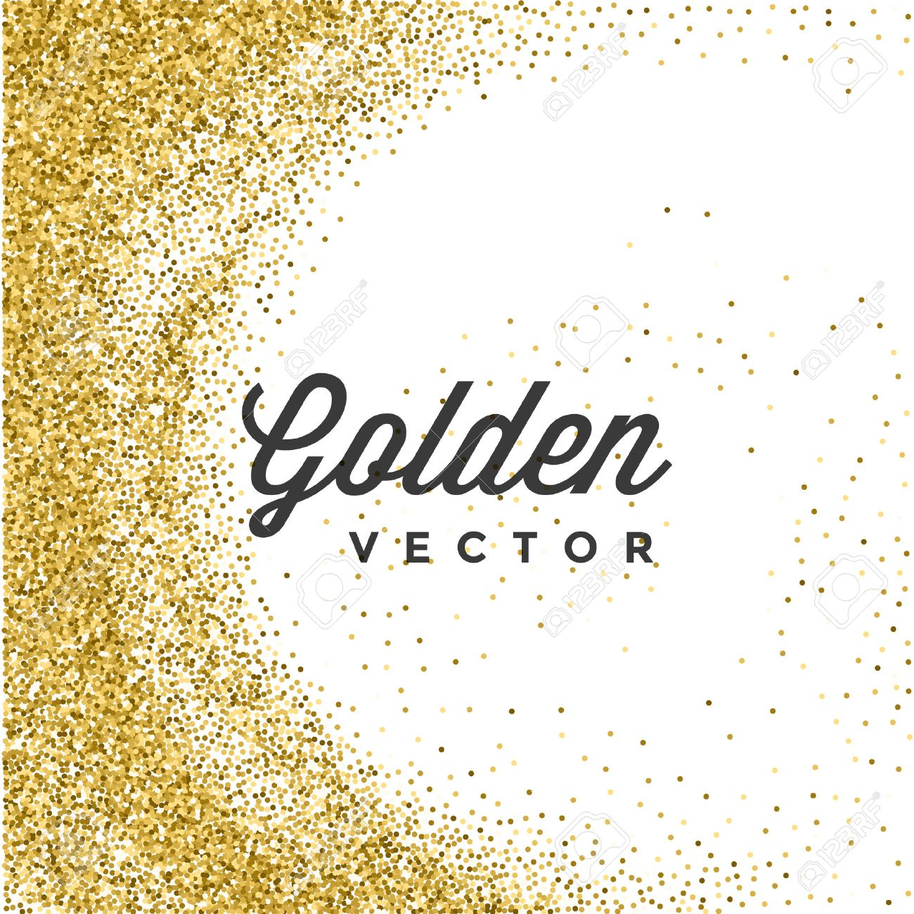 Confetti background vector golden confetti background - Gold Glitter Sparkles Bright Confetti White Vector Background Good For Greeting Gold Cards Luxury