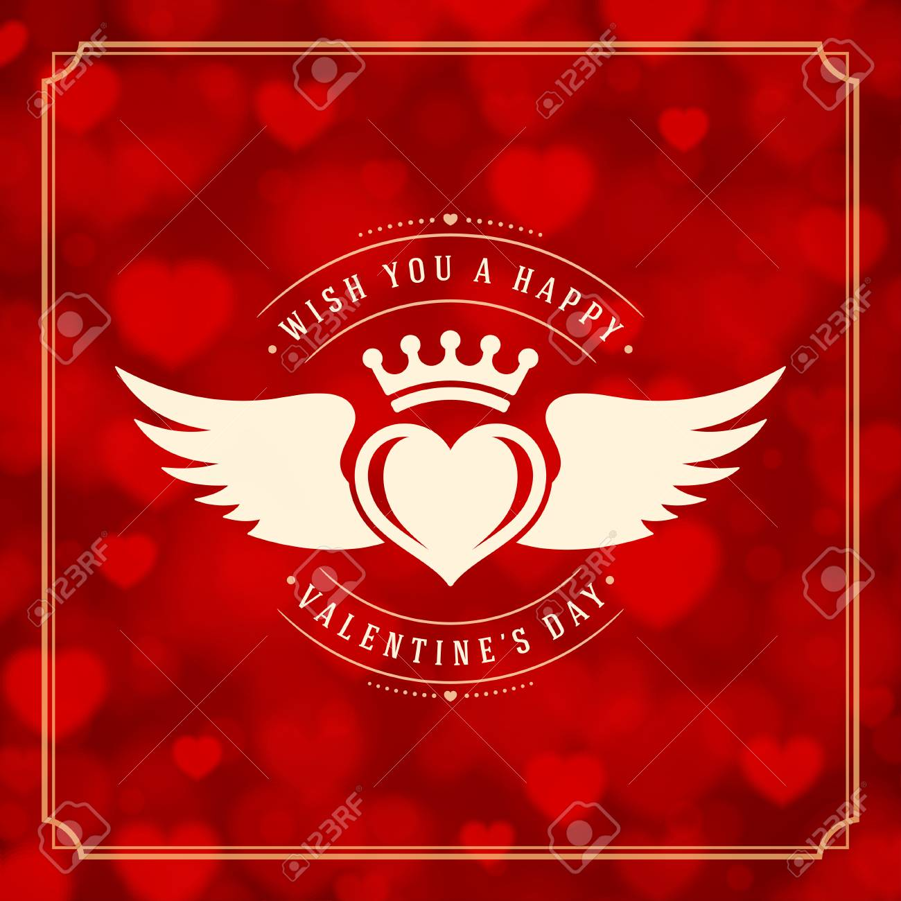 Valentine S Day Greeting Card Or Poster Vector Illustration