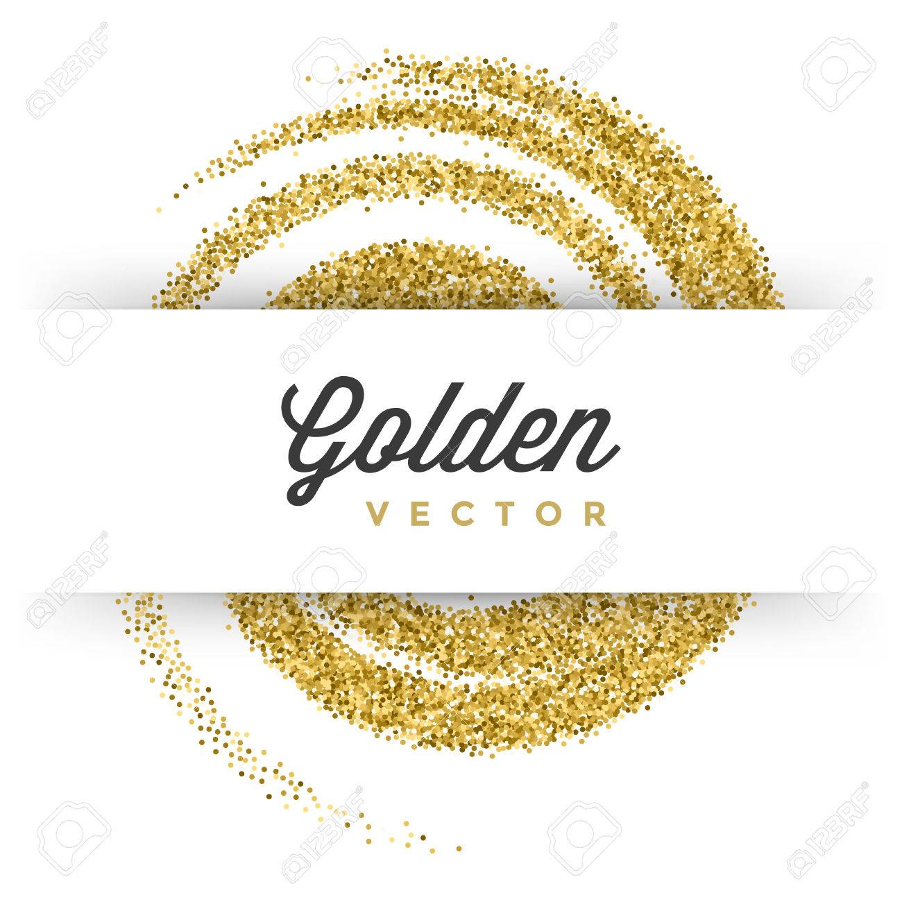 Gold glitter bright vector transparent background golden sparkles - Gold Confetti Gold Glitter Sparkles Bright Confetti White Vector Background Good For Greeting Gold