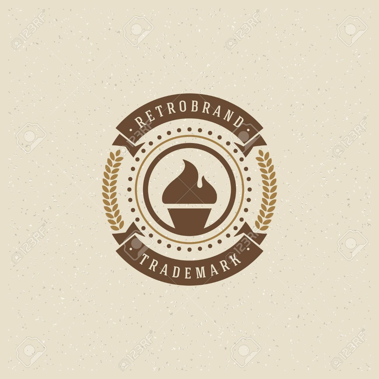 Bakery shop template vector design element vintage style label badge emblem