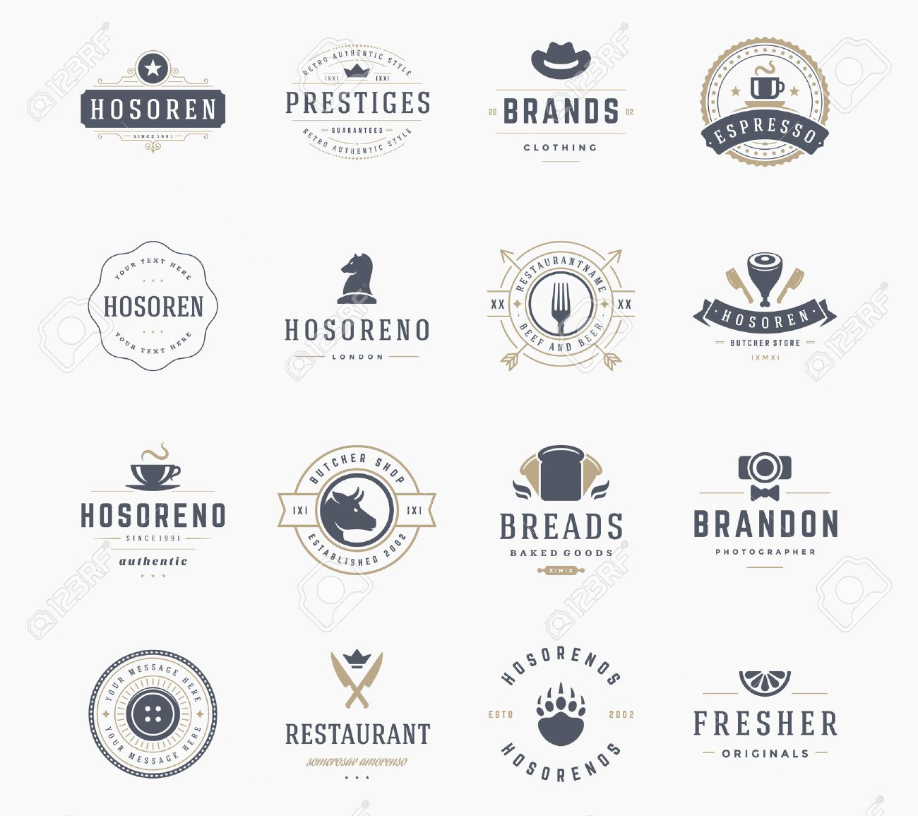 Vintage logos design templates set vector design elements logo vintage logos design templates set vector design elements logo elements logo symbols buycottarizona Image collections
