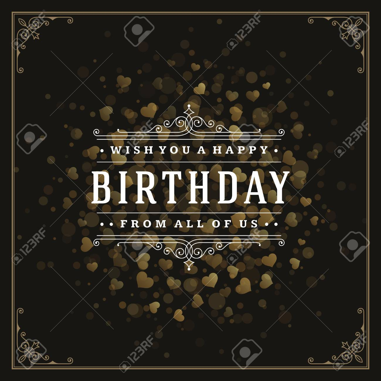 vintage typographic template with wish message and decoration