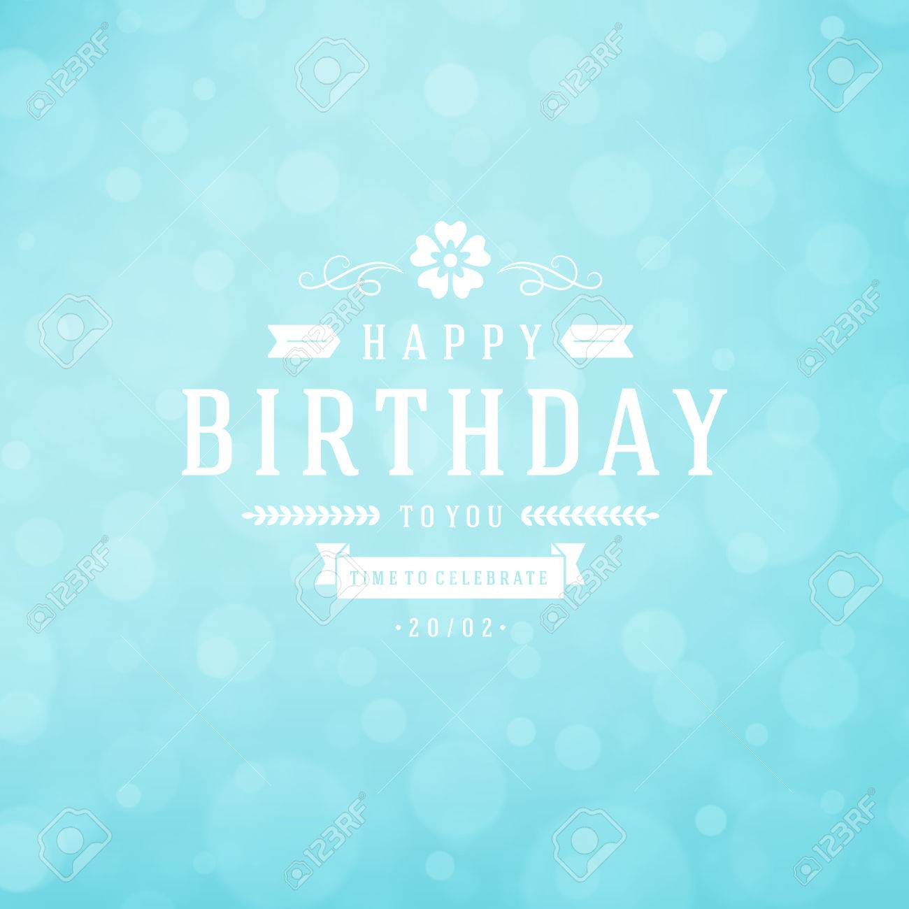 Happy Birthday Greeting Card Design Vector Template