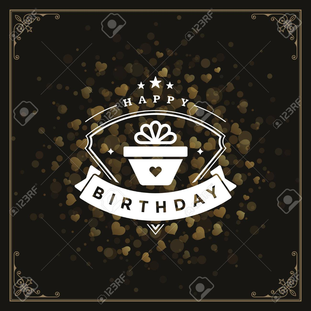 Happy birthday greeting card design vector illustration