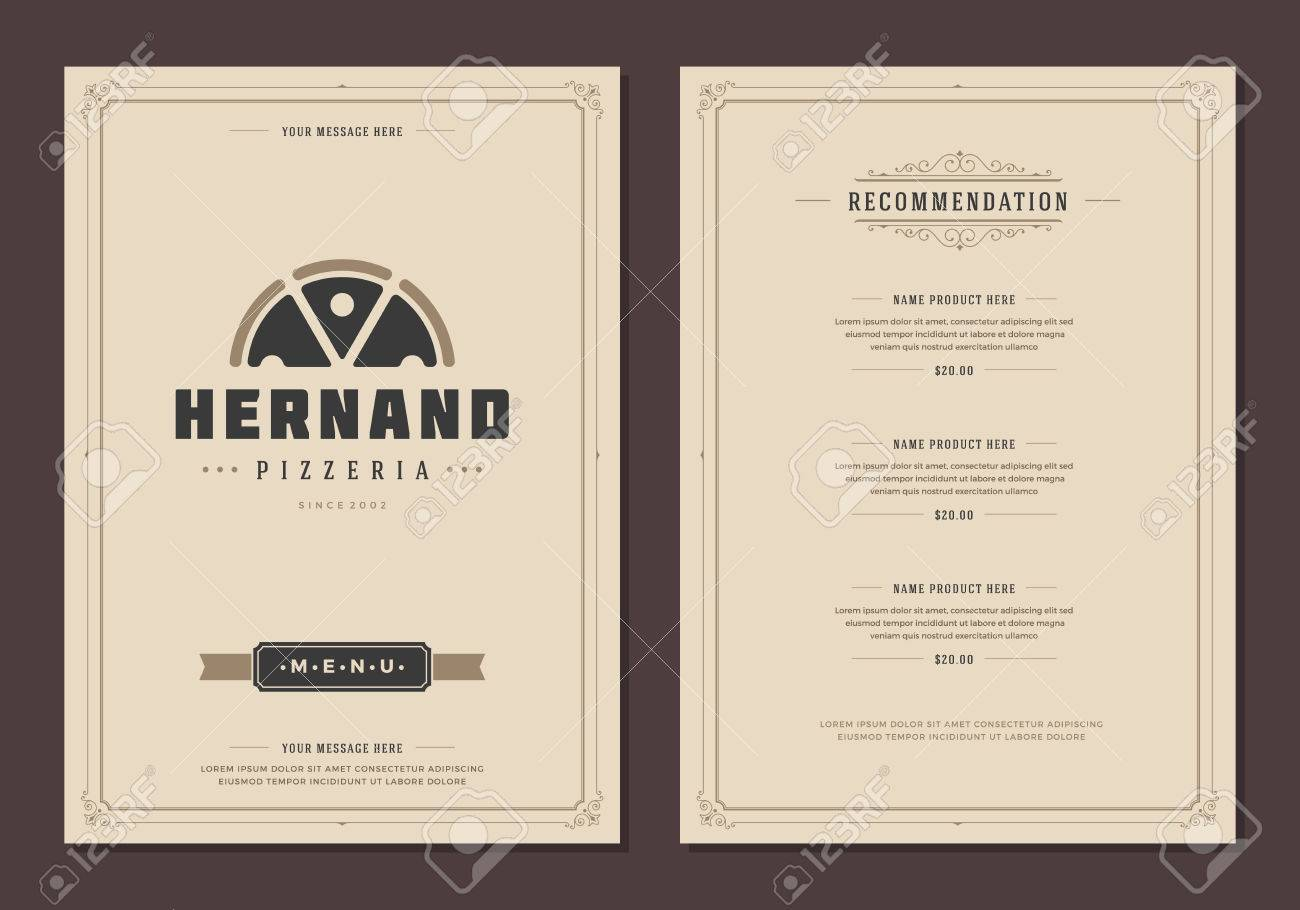 Restaurant-Logo und Menü-Design Vektor Broschüre Vorlage.