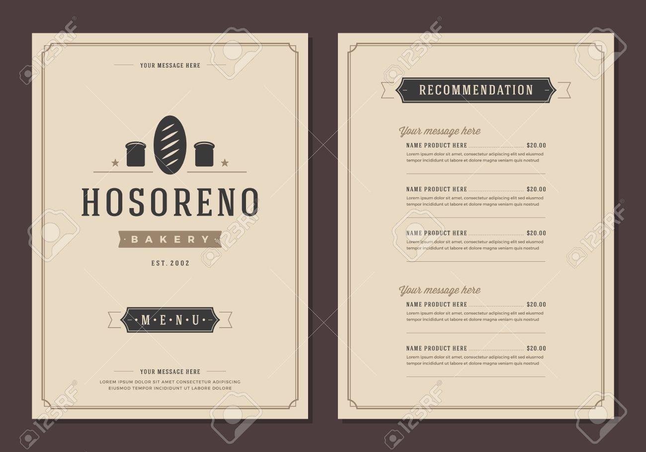 Fein Restaurant Broschüre Vorlage Fotos - Entry Level Resume ...