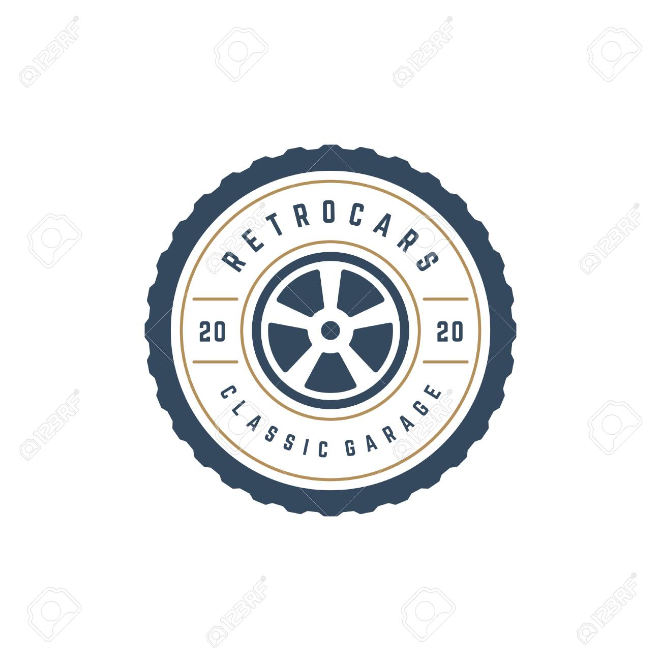 Car Wheel Logo Template Vector Design Element Vintage Style For Label Or Badge Retro Illustration Tire Silhouette Royalty Free Cliparts Vetores E Ilustracoes Stock Image 85239833