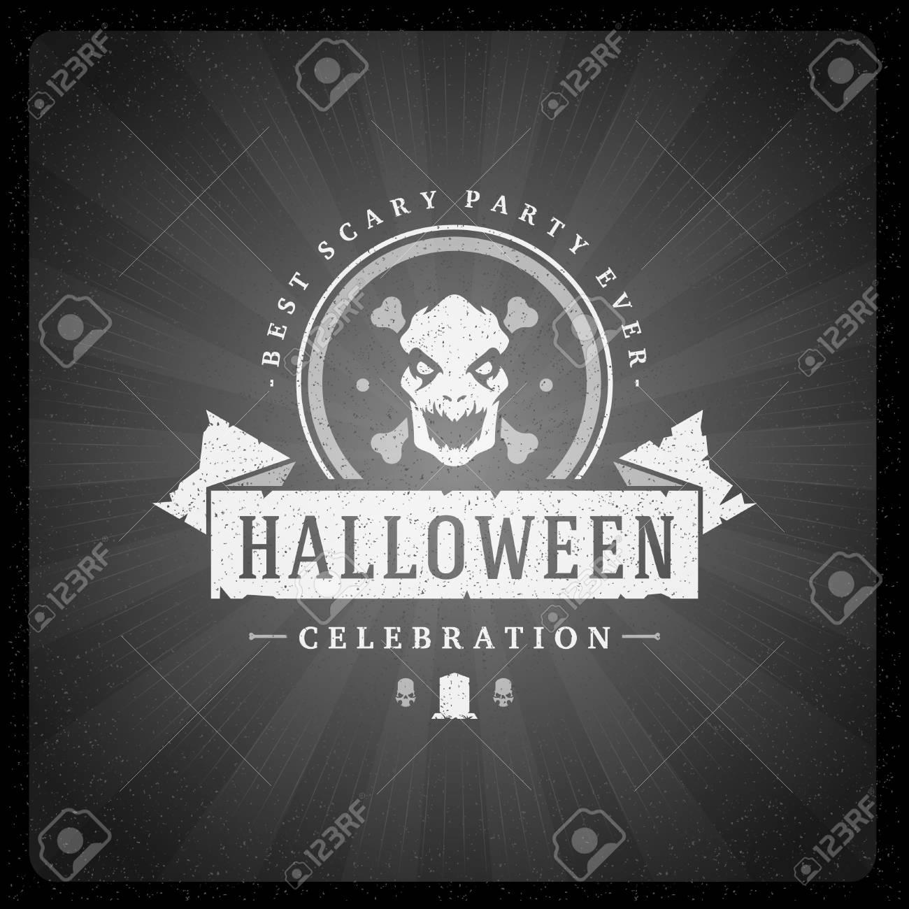 halloween vector illustration on movie ending screen stock vector 87382420