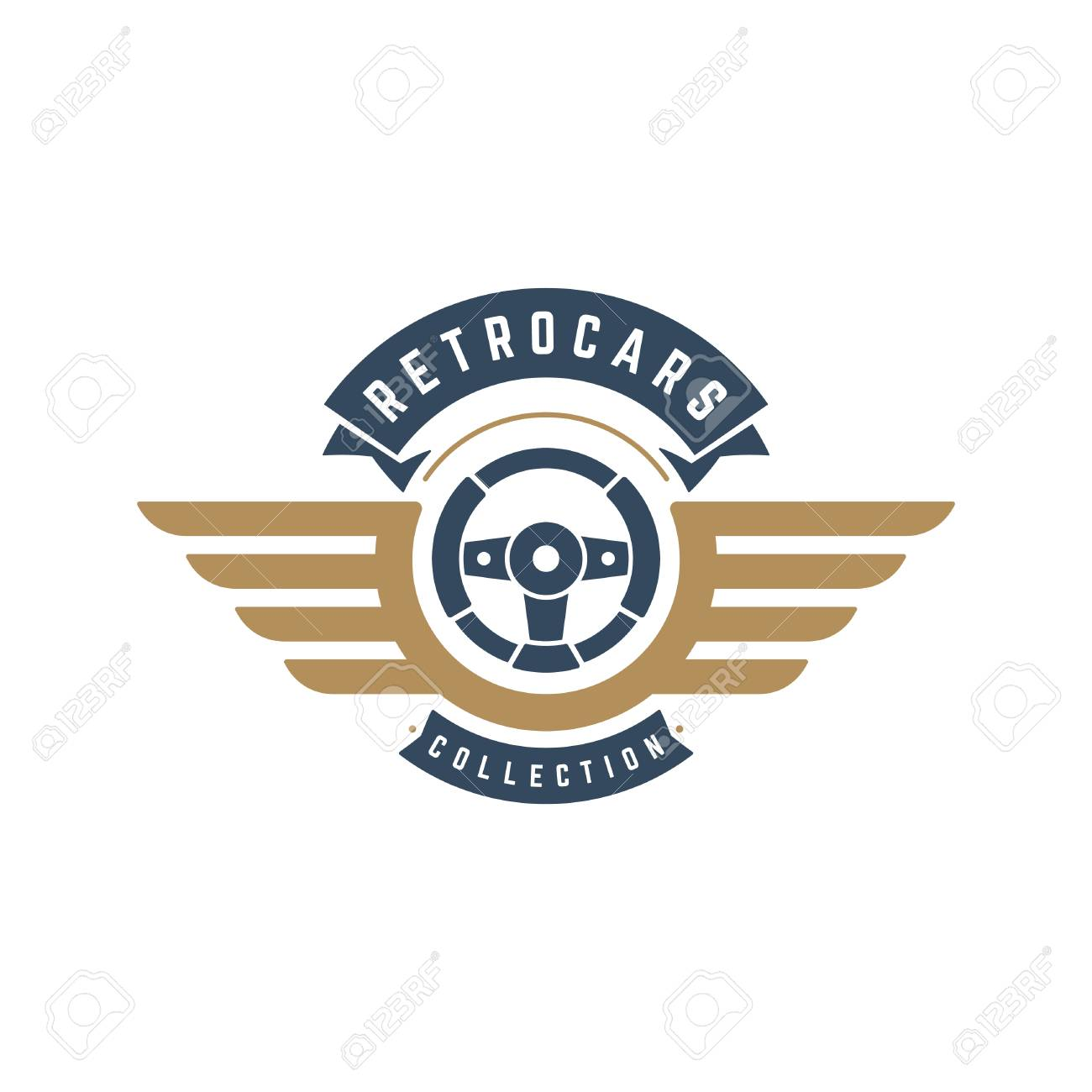 Car Steering Wheel Logo Template Vector Design Element Vintage Royalty Free Cliparts Vectors And Stock Illustration Image 87885434