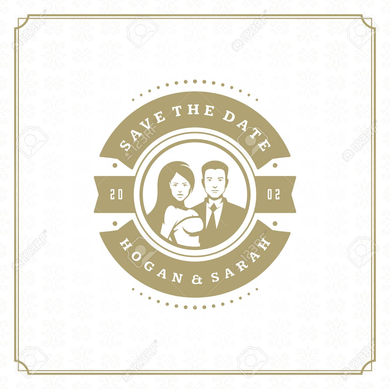 wedding save the date invitation card vector illustration wedding