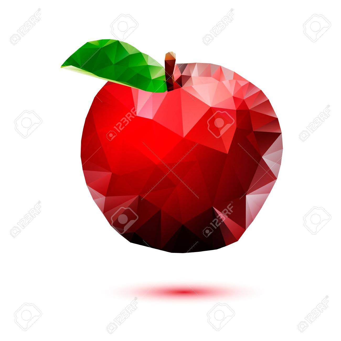 Apple abstract isolated on a white backgrounds Stock Vector - 23871038